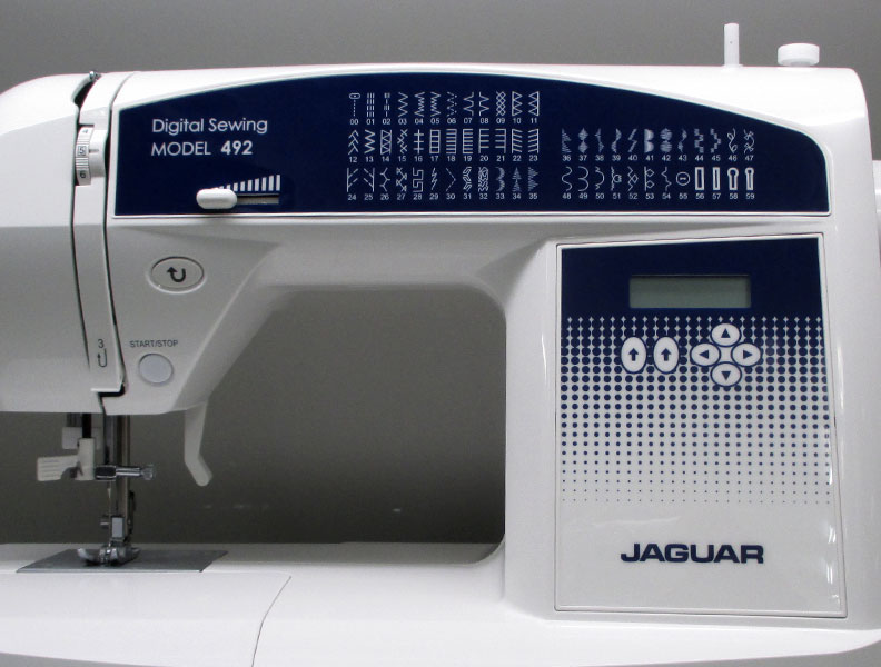 The Jaguar 492 sewing machine