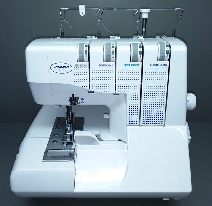 487 overlocker sewing machines by Jaguar