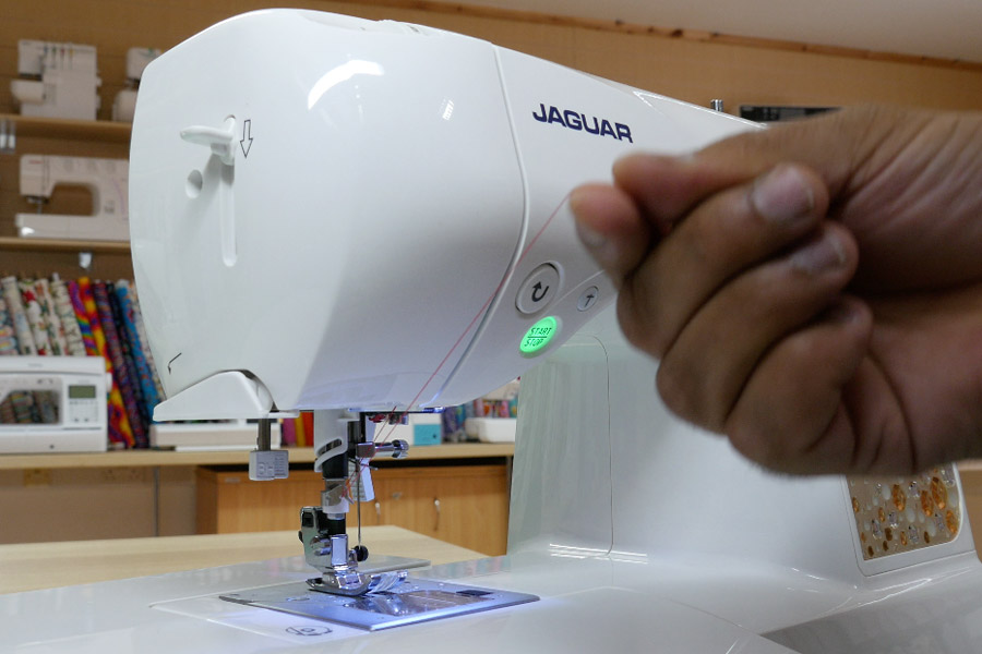 Easy threading Jaguar sewing machines